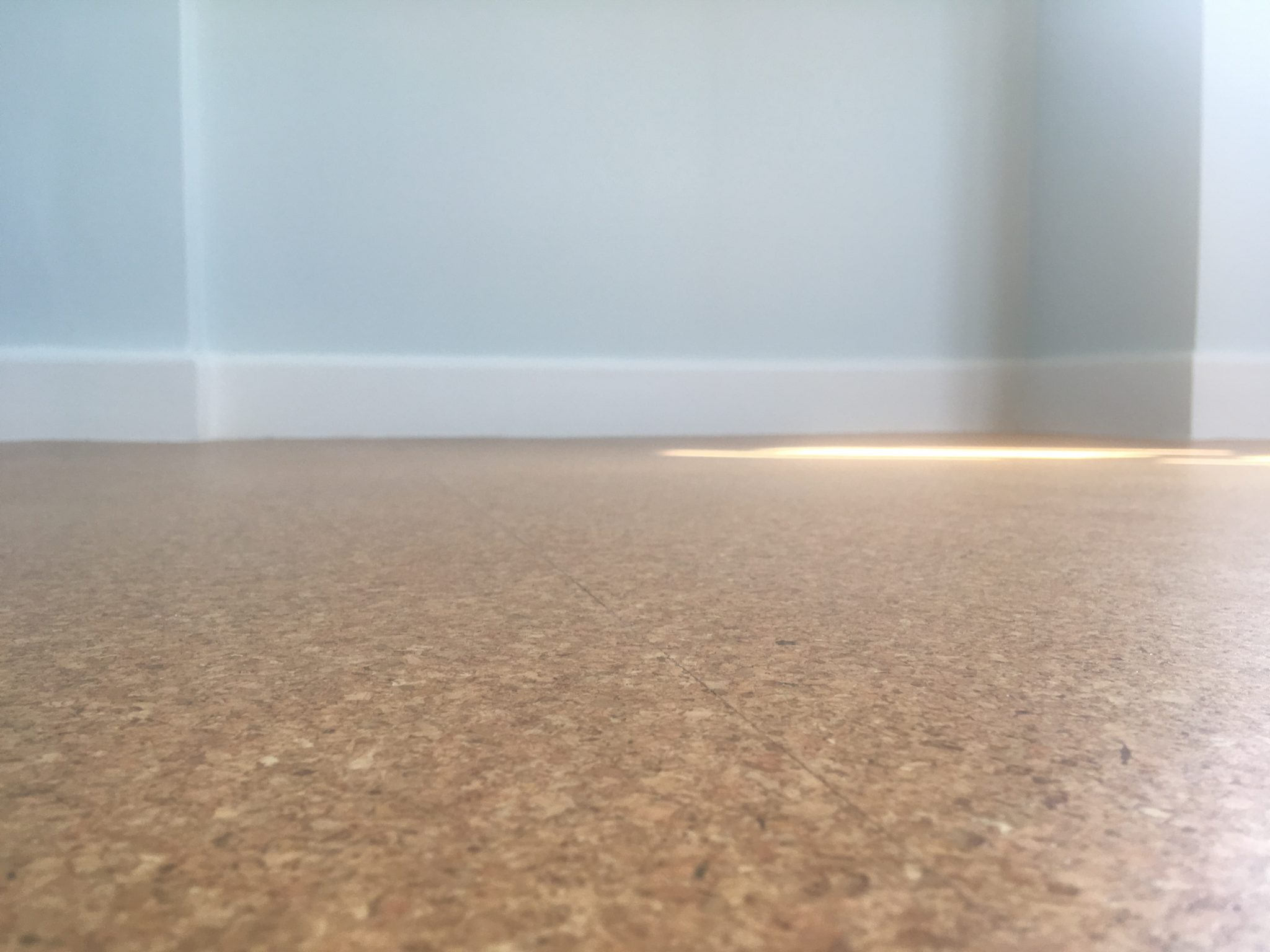 Cork floor West facing room